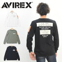 AVIREX アビレックス ウォーヴァン パッチド クルーネックTシャツ プリントTシャツ 長袖Tシャツ ロンT メンズ アヴィレックス 送料無料 6193468