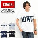 20%OFF セール SALE 大きいサイズ EDWIN エドウィン ビッグロゴプリント 半袖 Tシャツ メンズ レディース ユニセックス プリントTシャツ ロゴTシャツ 半袖Tシャツ ET5725