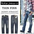 【送料無料】 Nudie Jeans(ヌーディージーンズ) THIN FINN(シンフィン) スキニーストレートダメージ・ペイント加工 38161-1110-153 ORG.ROUGH SPIRIT