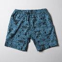 ショッピングズボン 【残りS・Mサイズのみ】SNOID DISGUSTING DISGUISES Shorts (Turquoise Blue) スノイド 総柄ショーツ/パンツ