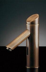 水栓 混合栓 カクダイ 水栓金具 【713-333】 センサー水栓(オールドブラス)