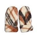 ALWERO wool mittens - FREEZE - braz krata skos【正規 アルベロ ウールミトン ブラウンチェック...