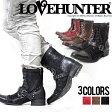 """""""LOVE HUNTER【ラブハンター】レースアップスタッズベルトブーツ/全3色""""【CIVARIZEシヴァライズ正規取扱店】【返品・交換対象商品】【あす楽対応】ヴィジュアル系 ビジュアル系 V系 メンズ ファッション メンズ靴 靴"""