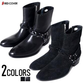 """鞋男鞋靴子""""環她的靴子所有皮革紅色封面 2 顏色""""都環引導工程師靴跟靴。"""