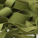 グログランリボン レーヨン 5mm オリーブグリーン 9.14M巻 手芸 服飾 ラッピング