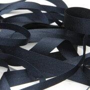 FUJIYAMA RIBBON エンブロイダリーリボン 7mm ネイビーブルー 9.14M巻 手芸 服飾 ラッピング リボン刺繍