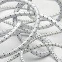 ストレッチコード 再帰反射 3mm ホワイト 9.14M巻 手芸 服飾 ドローコード FUJIYAMA RIBBON