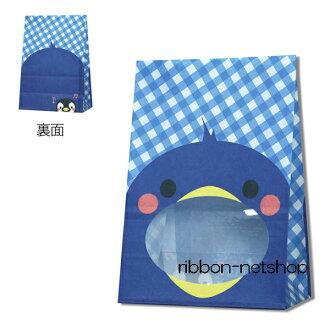 紙袋和有免提 w 視窗袋包裝袋袋企鵝 50 麥當娜 18 [企鵝和海生物 / 水族館 /Penguin / 糖果袋 / 視窗 / 包裝/手工 / 禮品 / 禮品]