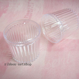 Dessert Cup ☆ crystal jelly 115 with lid ( 6 pieces ) CAP-34
