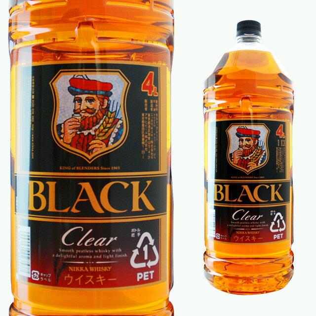 [大容量]ブラックニッカクリアブレンド4000ml4Lウイスキーウィスキーギフトお酒ニッカウイスキー