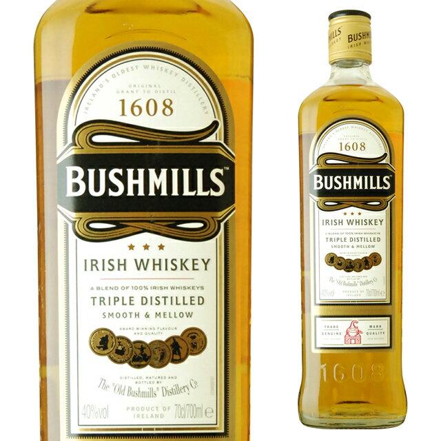 ブッシュミルズアイリッシュ・ウイスキー40度700mlウィスキーギフト洋酒お酒女性誕生日プレゼント内