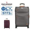 リカルド RICARDO スーツケース Mサイズ San Marcos サンマルコス 25インチ スピナー ソフト ビニールポーチ フロントポケット 拡張 防水裏地 ハンガー 軽量 大容量 Lサイズ TSAロック 大型