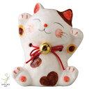 福鈴猫貯金箱(万歳) 金運招き猫