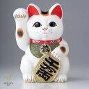 白小判猫6号右手 金運招き猫 縁起 風水 福 開店祝い 置物 贈り物 金運 開運
