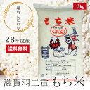 平成28年度産 特別栽培米 羽二重もち米 3kg