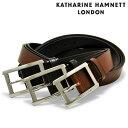 キャサリンハムネット ベルト メンズ KH-506028 KATHARINE HAMNETT|ビジネス カジュアル フォーマル 牛革 本革 レザー PO10 bef 即日発送