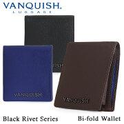 ヴァンキッシュ 財布 VA-W013 【 二つ折り財布 メンズ ブラックリベット 】 【父の日】【PO5】