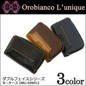 オロビアンコ キーケース ユニーク ルニーク ダブルフェイスシリーズ OBU-509012 【 Orobianco L'unique 】【 ラウンドファスナー キーリング 】 【 OROBIANCO 】【即日発送】