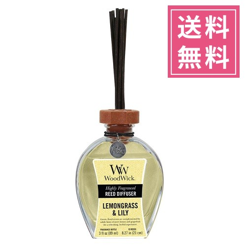 Wood Wick (ウッドウィック) リードディフューザーS【レモングラス&リリー】