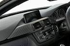 BMW3シリーズ (F30/F31/F34)【カーボン・ダッシュパネルL 2X2 綾織りマットブラック】(助手席側)