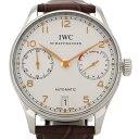 IWC ポルトギーゼ IW500114 クロノグラフ SS/革 オートマ 7デイズ 裏スケ