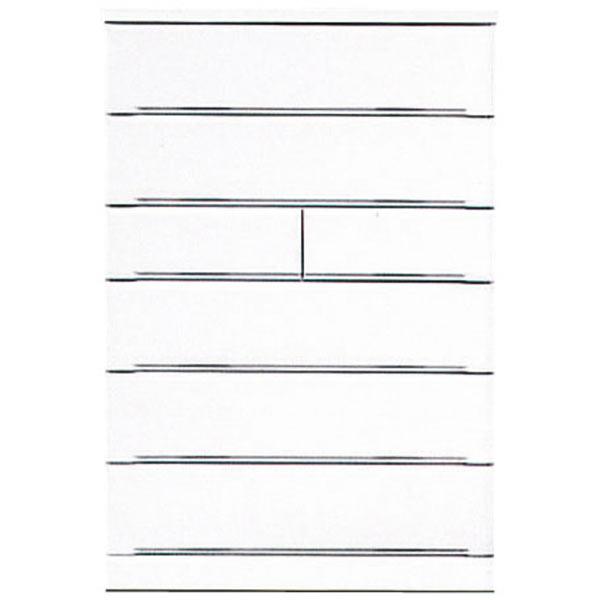 チェスト タンス ハイチェスト 幅90cm 6段 シンプル 北欧 鏡面 ホワイト 白 木製 完成品 送料無料