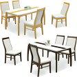 ダイニングセット ダイニングテーブルセット 5点セット 4人掛け 4人用 135テーブル 鏡面ホワイト 白テーブル 食卓セット シンプル 北欧 モダン 木製 送料無料