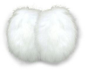 【フレームレス防寒耳カバー】イヤーラックス ラビットファー(ホワイト)【1個までメール便ご選択可能】