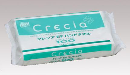 【Crecia】クレシア EF ハンドタオル ソフトタイプ(型番37015B) 100組入