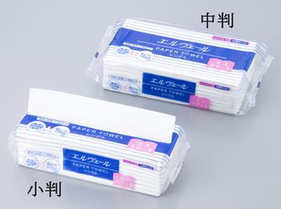 ペーパータオル (エルヴェール・エコスマート)中判 1パック(200枚入)