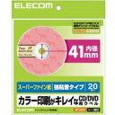 カラー印刷がキレイなCD/DVDラベル(内円標準・スーパーファイン・強粘着)