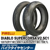 ディアブロ スーパーコルサ V2 SC1 120/70 ZR17 58W TL & 200/55 ZR17 78W TL [タイヤ前後セット]