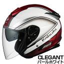 OGKカブト ASAGI ヘルメット CLEGANT【パールホワイト】【オージーケーカブト バイク用 ジェットヘルメット アサギ クレガント】【smtb-k】