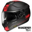 SHOEI GT-Air ヘルメット WANDERER【TC-1 レッド×ブラック(マットカラー)】【ショウエイ バイク用 フルフェイスヘルメット GTエアー ワンダラー ショーエイ】【smtb-k】