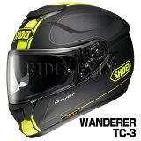 【】SHOEI GT-Air ヘルメット WANDERER【TC-3 イエローブラック(マットカラー)】【ショウエイ バイク用 フルフェイスヘルメット GTエアー ワンダラー ショーエイ】【smtb-