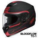 SHOEI QWEST ヘルメット BLOODFLOW【TC-1 レッド×ブラック (マットカラー)】【ショウエイ バイク用 フルフェイスヘルメット クエスト ブラッドフロウ ショーエイ】【smtb-k】