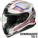 SHOEI Z-7 ヘルメット DOMINANCE【TC-1 レッド×ホワイト】【ショウエイ Z7 バイク用 フルフェイスヘルメット ドミナンス】【smtb-k】