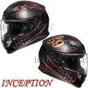 SHOEI Z-7 ヘルメット INCEPTION【TC-1 レッド×ブラック】【ショウエイ Z7 バイク用 フルフェイスヘルメット インセプション】【smtb-k】