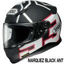 SHOEI Z-7 ヘルメット MARQUEZ BLACK ANT【TC-5 ブラック×ホワイト (マットカラー)】【ショウエイ Z7 バイク用 フルフェイスヘルメット マルケス・ブラックアント ウィンターテスト仕様】【smtb-k】