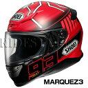 SHOEI Z-7 ヘルメット MARQUEZ3【マルク・マルケス選手レプリカ 2015年シーズングラフィック仕様】【ショウエイ Z7 バイク用 フルフェイスヘルメット】【smtb-k】