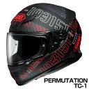 SHOEI Z-7 ヘルメット PERMUTATION 【TC-1 レッド×ブラック (マットカラー)】【ショウエイ Z7 バイク用 フルフェイスヘルメット パーミュテーション】【smtb-k】