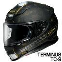 SHOEI Z-7 ヘルメット TERMINUS 【TC-9 ブラック×ゴールド (マットカラー)】【ショウエイ Z7 バイク用 フルフェイスヘルメット ターミ...