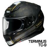 SHOEI Z-7 ヘルメット TERMINUS 【TC-9 ブラック×ゴールド (マットカラー)】【ショウエイ Z7 バイク用 フルフェイスヘルメット ターミナス】【smtb-k】