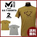 MILLET ミレー Tシャツ VIEW POINT TS S/S T-SHIRTS 半袖 キャメル グレー メンズ