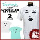ダイヤモンドサプライ Diamond SUPPLY CO. Tシャツ MARILYN MONROE THAT LOOK T-SHIRTS 白 ホワイト ダイヤモンドブルー マリリンモンローコラボ メンズ レディース