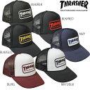 送料無料 スラッシャー THRASHERMAG キャップ 帽子 ブラック 黒 レッド 赤 ネイビー ゴールド メンズ レディース MAG WAPPEN MESH CAP