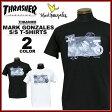 送料無料 スラッシャー THRASHER マークゴンザレス Tシャツ 半袖 ブラック 黒 ホワイト 白 MARK GONZALES PHOTO T-SHIRTS