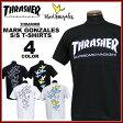 送料無料 スラッシャー THRASHER マークゴンザレス Tシャツ 半袖 ブラック 黒 ホワイト 白 メンズ MARK GONZALES MAG LOGO T-SHIRTS
