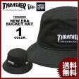 送料無料 スラッシャー THRASHER ニューエラー バケット ハット 帽子 ブラック 黒 メンズ MAG NEW ERA BUCKET HAT