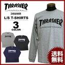 送料無料 スラッシャー THRASHER Tシャツ 長袖 ロンティ ブラック 黒 グレー ネイビー メンズ MAG LOGO L/S T-SHIRTS